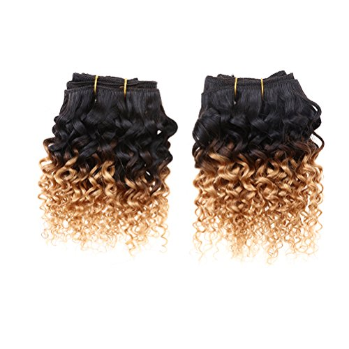 Emmet-2pcslot-100g-Short-Wave-8Inch-Brazilian-Kinky-Curly-Human-Hair-Extension