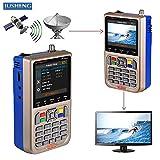 JUSHENG Newest GTMEDIA V8 Finder Digital Satellite TV Signal Finder Meter (V-73HD) DVB-S2 FTA LNB Signal Meter Pointer Satellite TV Receiver Tool with 3.5' LCD