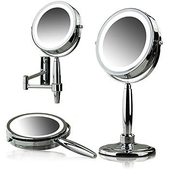 Amazon Com Ovente 3 In 1 Makeup Mirror Tabletop Wall