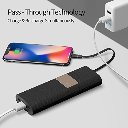 iWalk 20000mAh power Bank quickly charge QC30 20 established in Lightning Type C Micro USB Cables transportable External Battery Pack Chargerfor iPhone X 8 7 6 5s Plus SE ipadSamsung S9 S8 S7 Switch Macbook and a great dea Black External Battery Packs