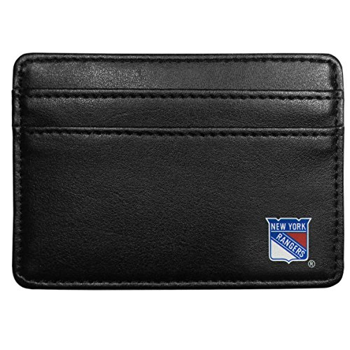 NHL New York Rangers Leather Weekend Wallet, Black (Leather New York Weekend)