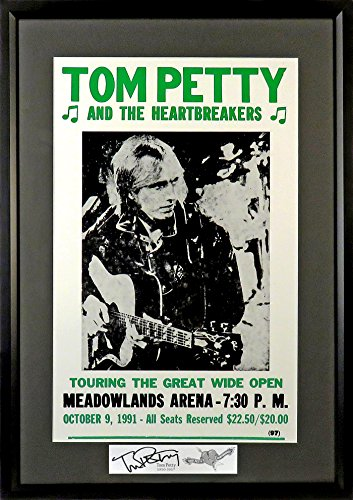 Tom Petty & The Heartbreakers @ Meadowlands Concert Poster (SGA Signature Engraved Plate Series) Framed