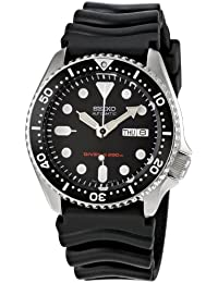 Mens Automatic Analogue Watch with Rubber Strap SKX007K. Seiko