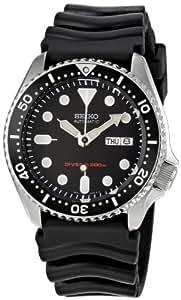 Seiko SKX007 K1 Black Face Automatic 200m Men's Analog Divers Watch