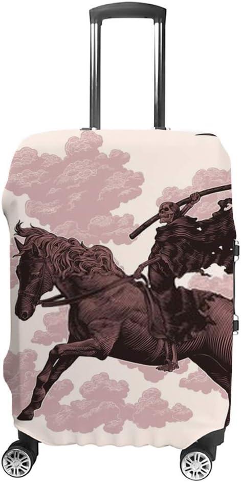 Ruchen - Funda protectora para maleta, diseño de guadaña de la muerte a caballo