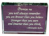 Christopher Robin: Promise Me, Hand Carved Etched Glass Paperweight