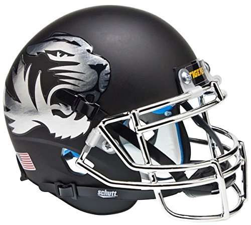 MISSOURI TIGERS NCAA Schutt XP Authentic MINI Football Helmet (CHROME)