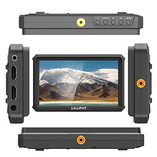 LILLIPUT A5 5 Inch Camera-Top Broadcast Monitor for 4K HDMI/Full HD Camcorder & DSLR with 1920x1080 Native Resolution Application for Taking Photos & Making Movies by LILLIPUT OFFICIAL SELLER VIVITEQ