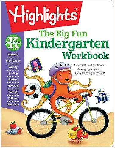 Amazon.com: The Big Fun Kindergarten Workbook (Highlights™ Big Fun ...