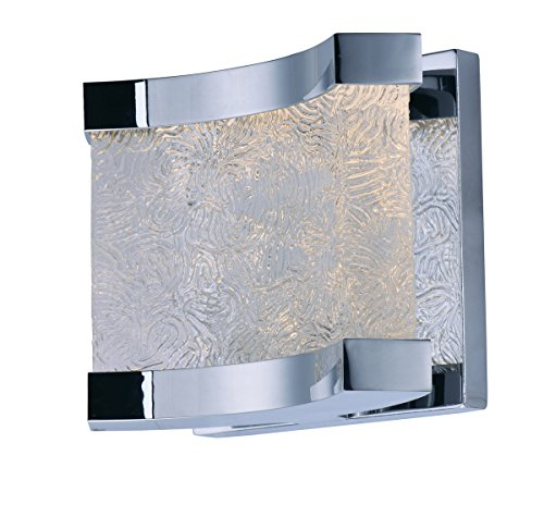 (Maxim Lighting 39681RRPC Bath Vanity Curl LED 1 Light Wall Sconce Unfinished)