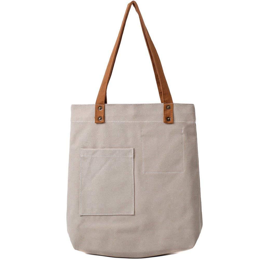 MOWANG Women and Girls Canvas Tote Bag Casual Pure Color Hobo Messenger Shoulder Bag Travel Bag