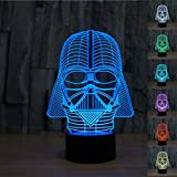 Padaday Star War Darth Vader 3D Optical Illusion Desk Table Light Lamp