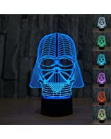 Padaday Star War Darth Vader 3D Optical Illusion Desk Table Light Lamp