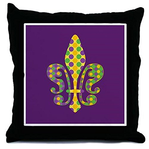 CafePress - Bead Fleur - Mardi Gras Throw Pillow - Throw Pillow, Decorative Accent Pillow