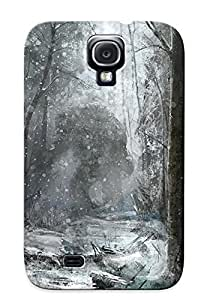 New Style Case Cover HEeLfzk1204xaUFN Fantasy Monster Monsters Creature Winter Snow Forest Tree Dark Compatible With Galaxy S4 Protection Case by lolosakes