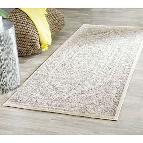 Safavieh Adirondack Collection ADR108B Ivory and Silver Oriental Vintage Medallion Runner (2'6