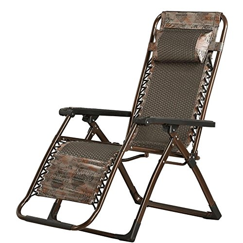 Folding Cane Back Chairs - XXHDYR Summer Cool Chair Folding Chair Recliner Folding Lunch Break Chair Adult Leisure Chair Home Back Chair Folding Chair (Color : Brown)