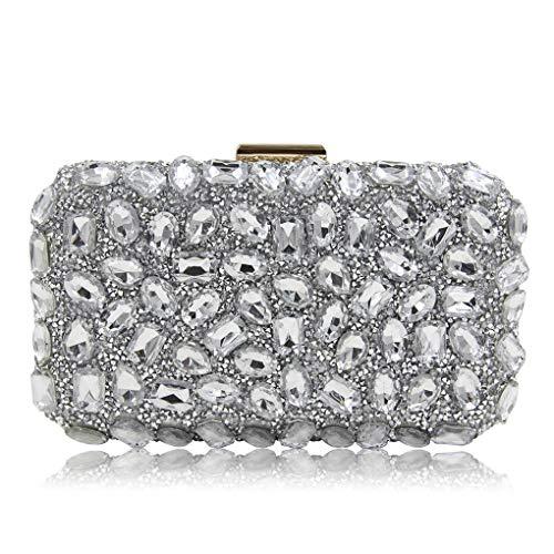 Bag With Detachable Clutch Crystal Shoulder Bag Purses G Strap Rhinestone Crossbody Chain Women FSIqzpwS
