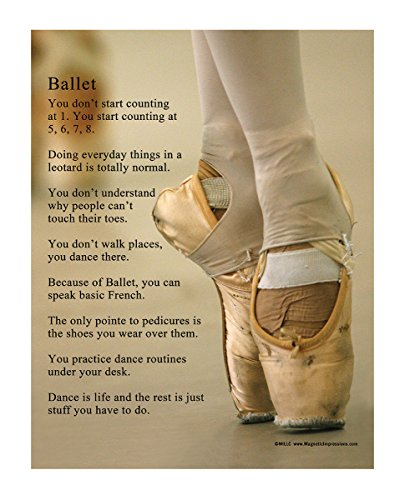 "d16ab9285 Posters and Prints by Magnetic Impressions Ballet Shoes 13.75"" x 17"" Vinyl  Dance Wall Decal"