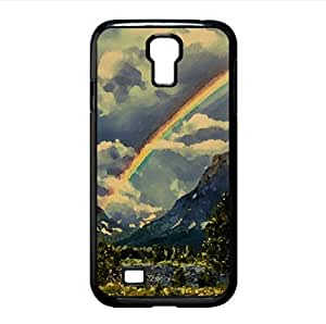 Rainbow In The Sky Watercolor style Cover Samsung Galaxy S4 I9500 Case (Lakes Watercolor style Cover Samsung Galaxy S4 I9500 Case)