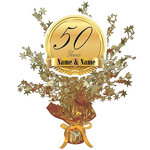 50TH ANNIVERSARY CUSTOMIZED CENTERPIECE (Anniversary Centerpieces Ideas)
