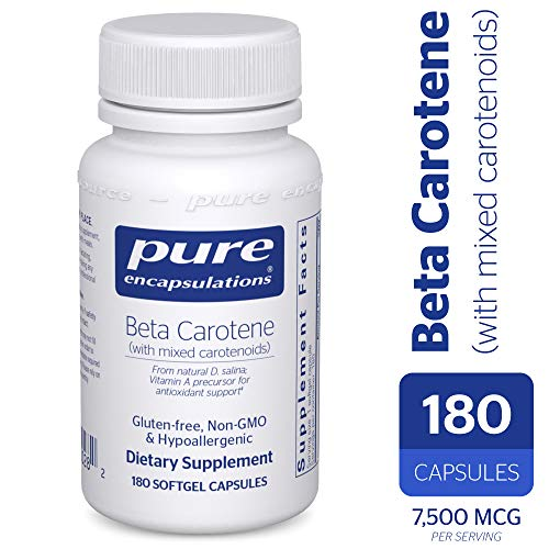 Pure Encapsulations - Beta Carotene with Mixed Carotenoids - Hypoallergenic Antioxidant and Vitamin A Precursor Supplement - 180 Softgel Capsules