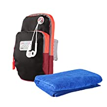 Cell Phone Armband Sweat-proof with Key Holder+Sports Towel Fast Drying for Running Suitable for iPhone 6/6S Google Nexus 5 Galaxy S6