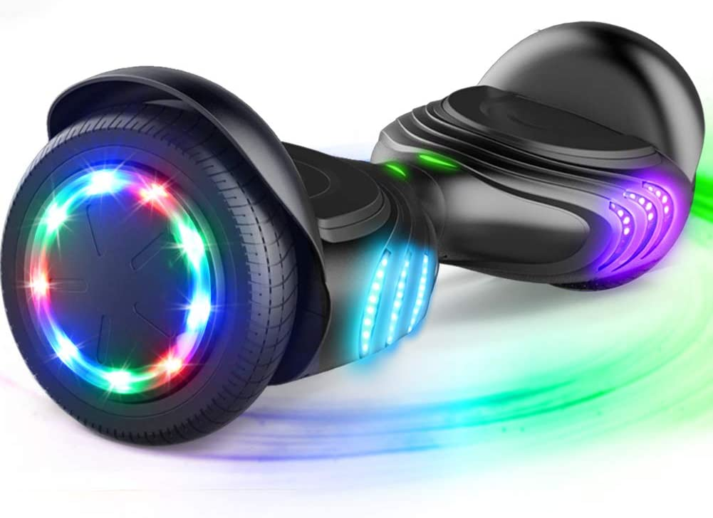 Tomoloo Self-Balancing Hoverboard with Bluetooth Speaker and LED Lights