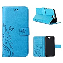 """HTC One A9 Case, LANDEE Advanced Pressed Flowers Series The Unique Design PU Leather Wallet Stand Flip Case for HTC One A9 (5.0"""") (HTCA9-P-0401)"""