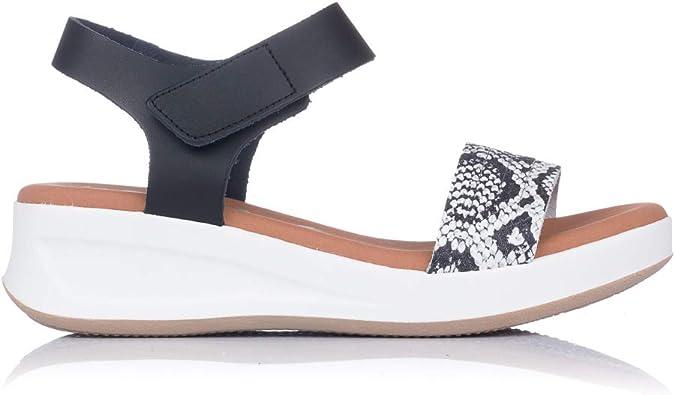 OH MY SANDALS 4676 Sandalia Piel Reptil CUÑA Mujer Blanco 34: Amazon.es: Zapatos y complementos