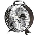 Polar-aire Lf-9df Retro Desk Fan, 9'', Metallic, 2 Speed