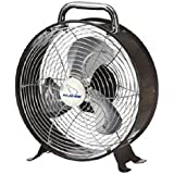 Polar-aire Lf-9df Retro Desk Fan, 9, Metallic, 2 Speed