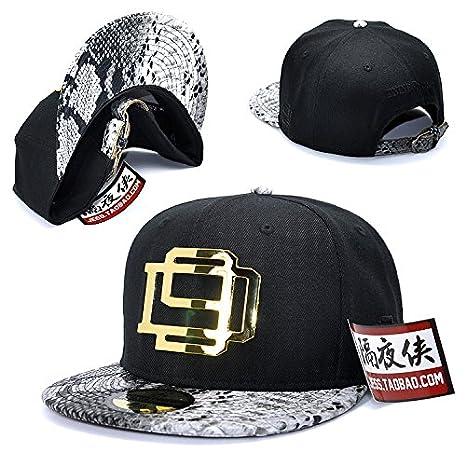 GUYOULY Gorra de béisbol Plana Hip Hop Hat Cap Modelos de ...