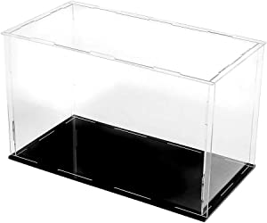 LANSCOERY Clear Acrylic Display Case Assemble Countertop Box Cube Organizer Stand Dustproof Protection Showcase for Action Figures Toys Collectibles (12x10x10 inch; 30x25x25cm)