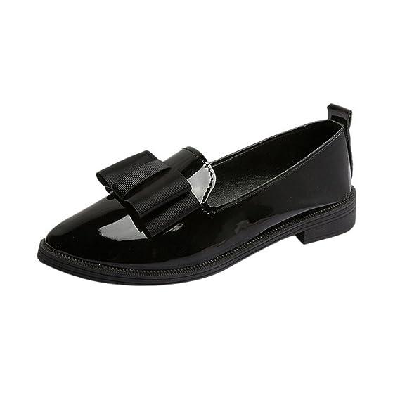 Mocasines de Mujer Zapatos Puntiagudos de Oxford para Mujer Elegantes Zapatos Planos cómodos y cómodos Moda Loafers Casual Zapatos de Conducción Zapatillas ...