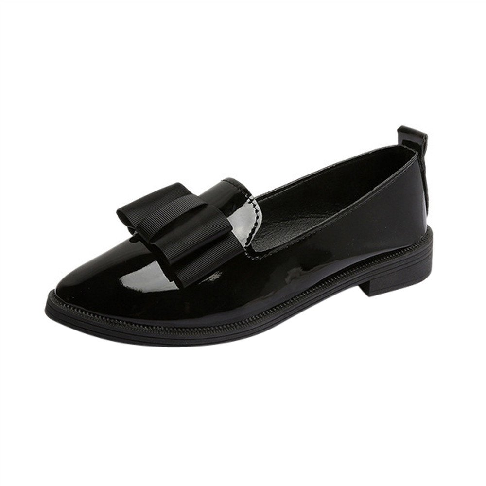 Nevera Women's Casual Classic Pointed Toe Slip On Comfort Flats Dress Shoes Black