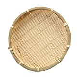 wooden bread basket - Fityle Bamboo Sieve Great as Fruit, Vegetable, Bread Basket Multifunctional - Wooden color, 16×2cm