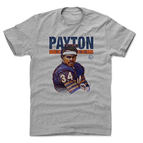 - 500 LEVEL Walter Payton Cotton Shirt (X-Large, Heather Gray) - Chicago Bears Men's Apparel - Walter Payton Game Face Chicago