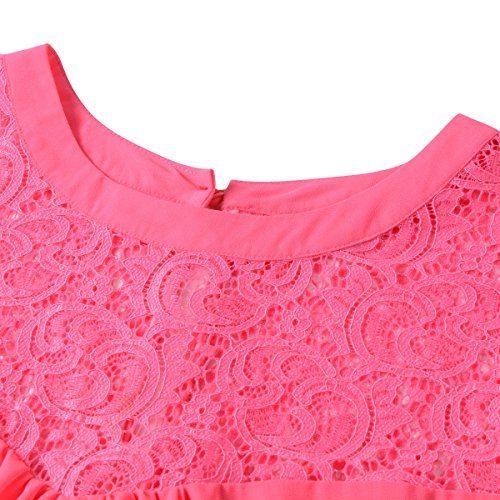 Mini Lace Dress vanberfia Patchwork Women's Chiffon 6563 Casual FWFZB8gf