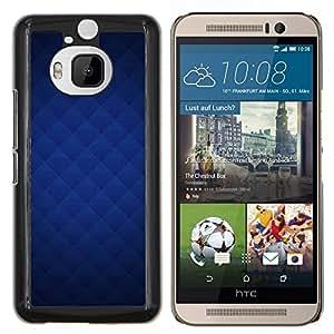 KLONGSHOP // Cubierta de piel con cierre a presión Shell trasero duro de goma Protección Caso - Textura azul - HTC One M9Plus M9+ M9 Plus //