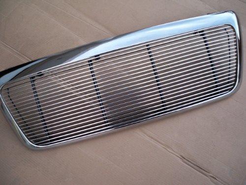 F150 Pickup Chrome Metal Billet Front Grille Assembly- 4mm Polished Insert (Pickup Polished Billet Insert)