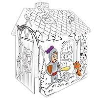 Tiktaktoo Maison Jouet en Carton Chevalier Cabane de Jeu en Carton du Film Dessiner Maison Jouet Carton