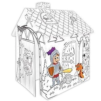Casa de juegos de Cartulina CABALLERO Pappspielhaus para Pintar ...