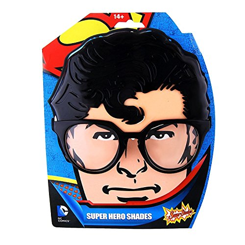 [Sun-Staches - Superman Super Hero Costume Mask] (Clark Kent Halloween Costume Girl)