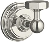 KOHLER K-13113-SN Pinstripe Robe Hook, Vibrant Polished Nickel