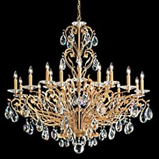 Schonbek FE7018N-26H Filigrae 18 Light Traditional Chandelier In French Gold With Clear Heritage Crystal Trim