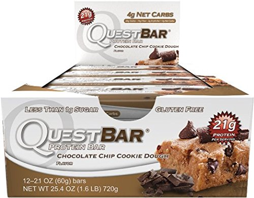 Quest Bars-Chocolate Chip Cookie Dough 36 Bars by Quest Nutrition
