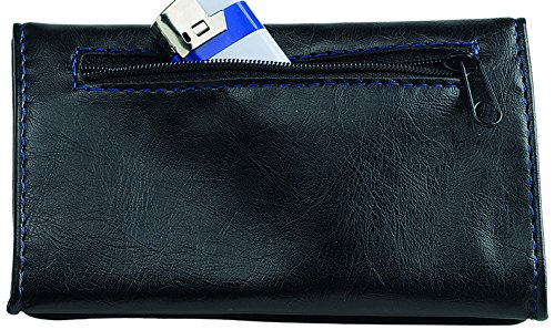 Egoist Medium Black Travel leather Zip Pouch Medium Compartments Tobacco in with Black accessory Wallet arW7waqP