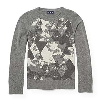 The Children's Place Big Boys' Sweaters, H/T Ash 87564, M (7/8)