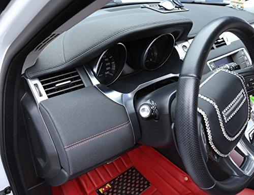 Left Drive ABS Chrome Interior Front Dashboard Edge Cover Frame Trim For Range Rover Evoque 2012-2017